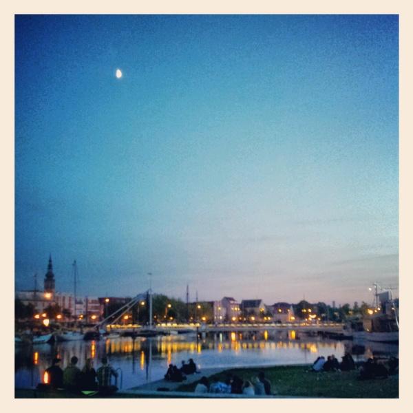 Greifswald Museumshafen am Abend