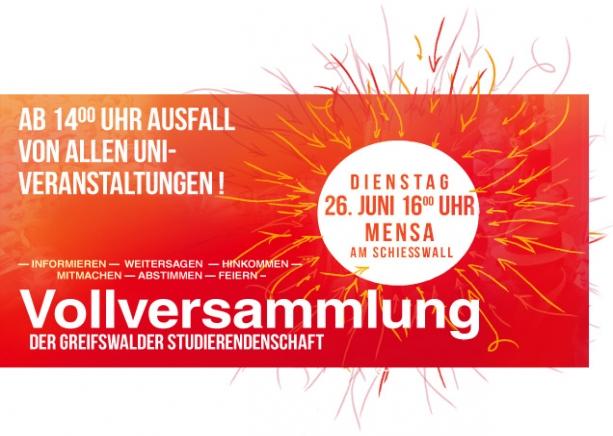 Uni Greifswald Vollversammlung der Studierendenschaft Sommersemester 2012