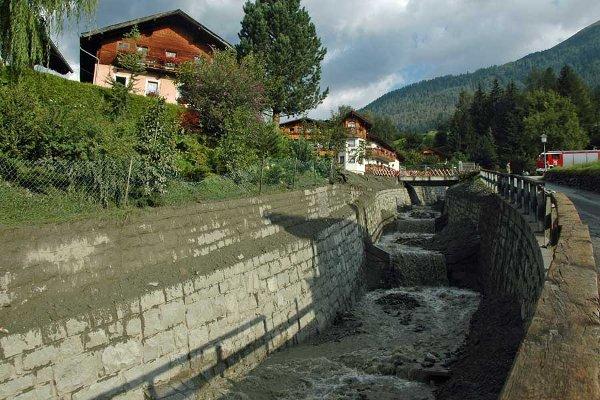 Firschnitzbach nach dem Murgang