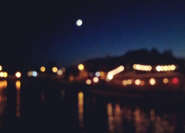Greifswald Museumshafen bei Nacht