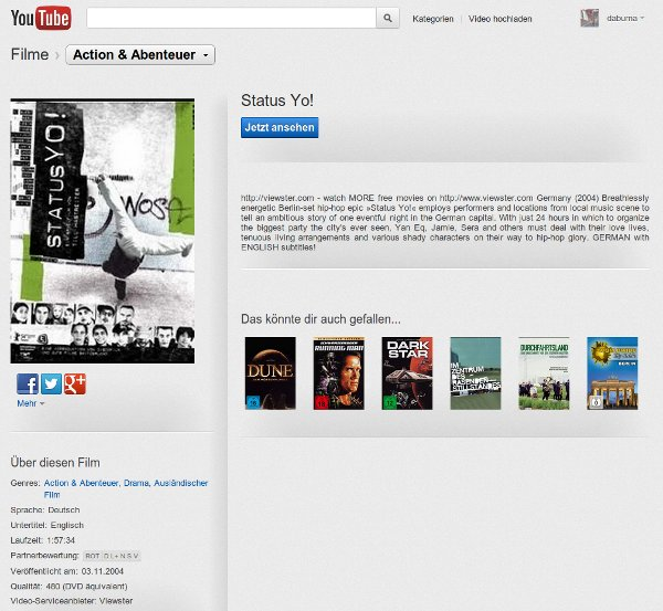 Screenshot YouTube - Status Yo!
