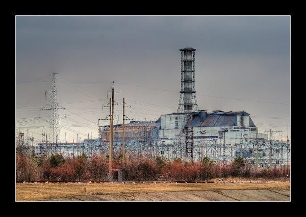Reaktor 4 des AKW Tschernobyl mit Sarkophag