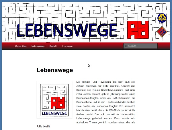 Screenshot Lebenswege Blog