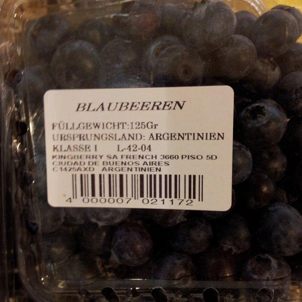 Blaubeeren aus Argentinien