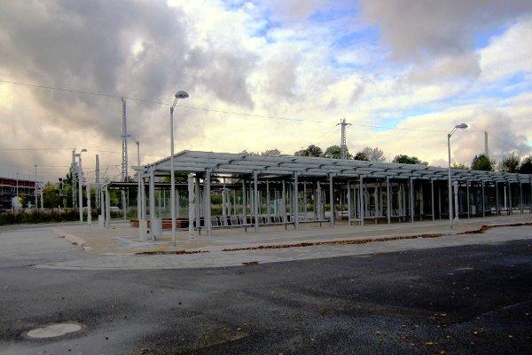 Baustelle des Busbahnhofs Greifswald