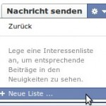 Anleitung für Interessenlisten bei Facebook