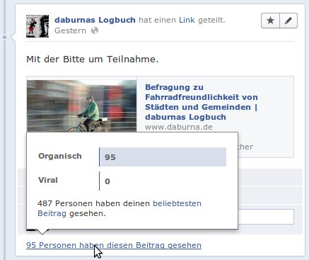 Facebook Status Statistiken