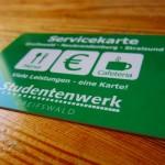 Loblied auf die neue Servicekarte des Studentenwerks