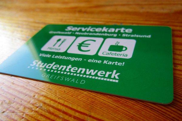 Servicekarte des Studentenwerks Greifswald