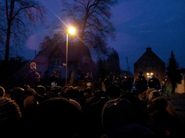 Wolgast Blockade in der Saarstraße