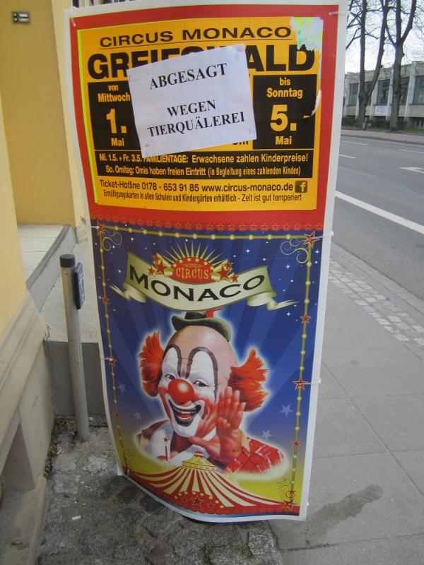 Plakat des Circus Monaco