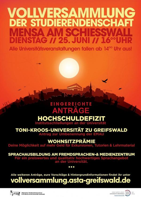 Vollversammlung der Studierendenschaft der Uni Greifswald Sommersemester 2013