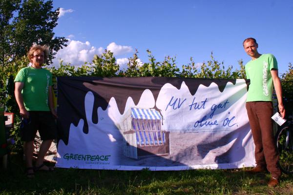 Greenpeace mit Kampagne gegen Ölbohrungen in Mecklenburg-Vorpommern