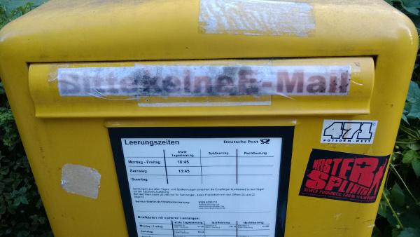 Bitte keine E-Mail