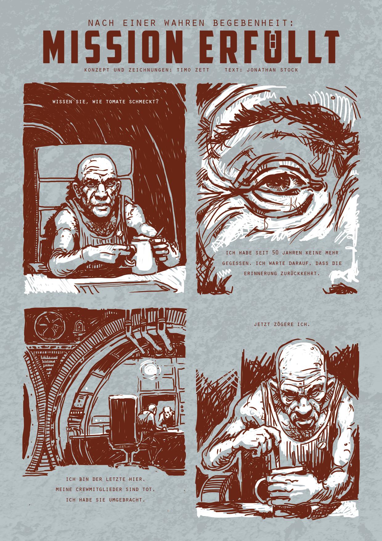Comic von Timo Zett: Mission erfüllt